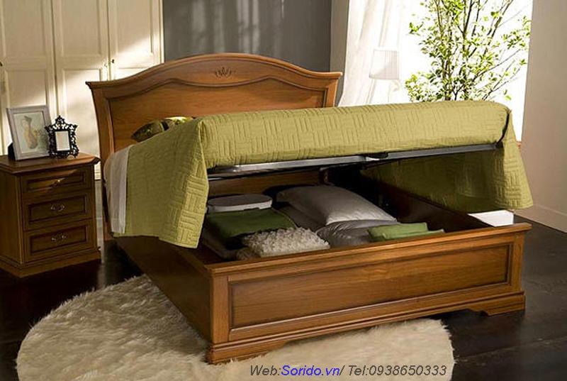 giường gỗ lát đa năng 1