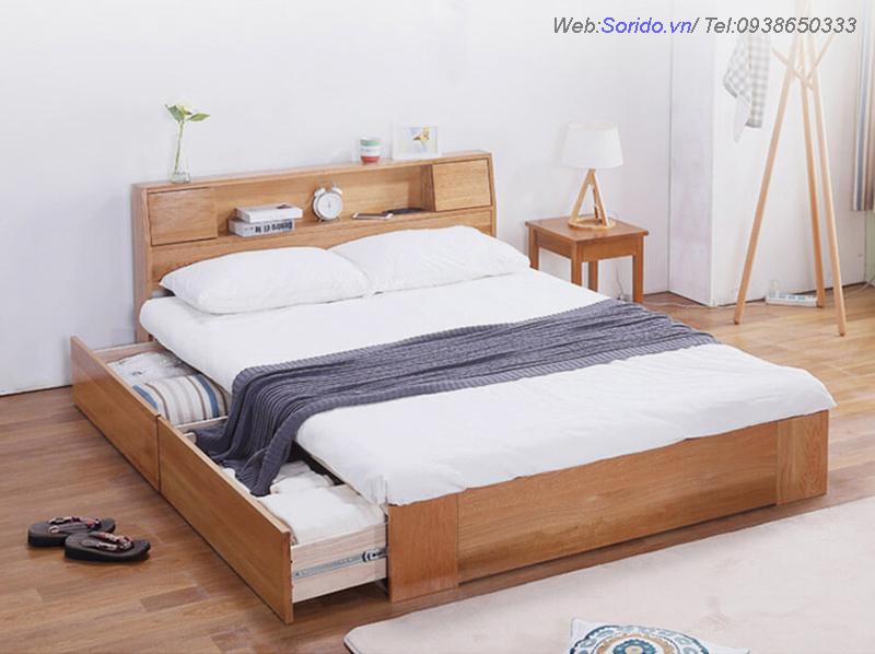 giường gỗ lát đa năng 2