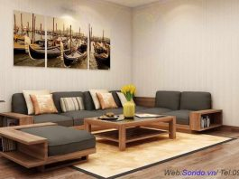 sofa gỗ lát