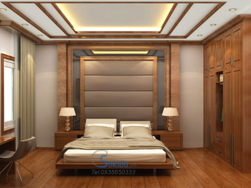phòng ngủ gỗ lát